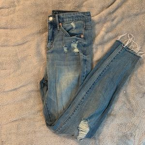 Size 2 distressed jeans